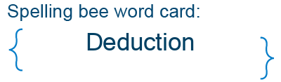 Spelling bee statistics for Deduction