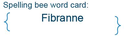 Spelling bee statistics for Fibranne