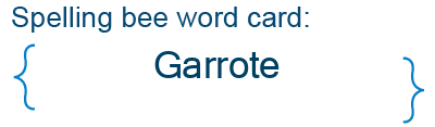 Spelling bee statistics for Garrote