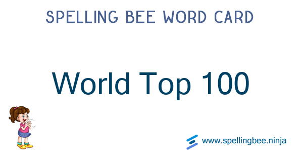 Spelling bee world top rankings